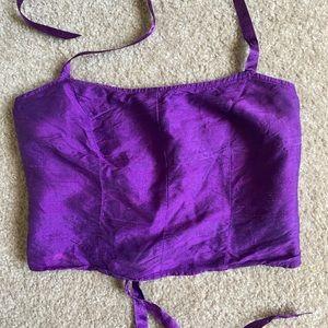 Vintage Guess Silk Corset Top
